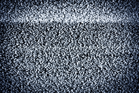 Analog television with white noise Stock Photo