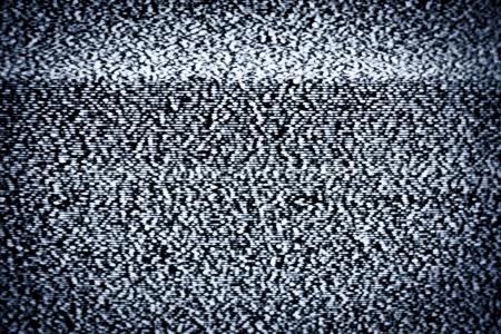 blackout: Analoge televisie met witte ruis