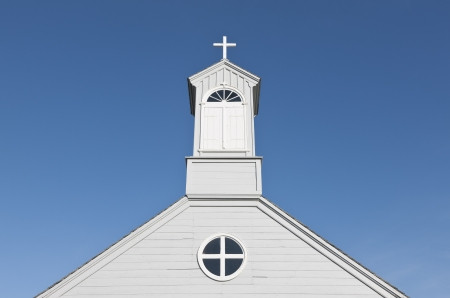 country church: Old fashioned country church on a clear sunny day