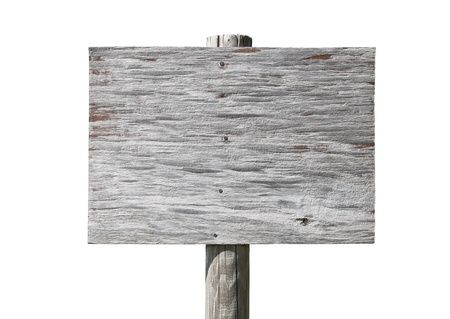 knotting: Old wooden sign without a message - insert your own Stock Photo