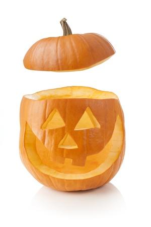 carved pumpkin: Jack O Stock Photo