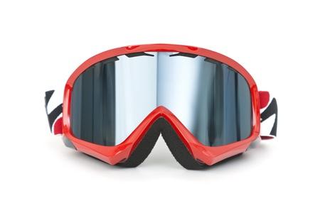 goggle: Brand new ski goggles isolated on white background Stock Photo