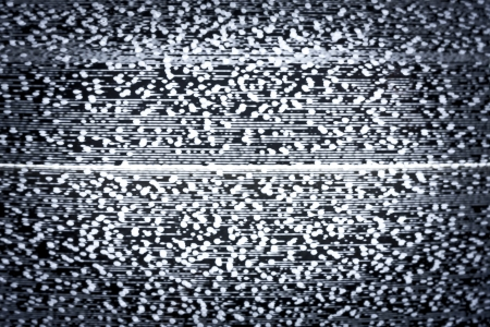 Analog television with white noise photo