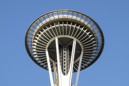 space needle: Seattle Space Needle on a beautiful day