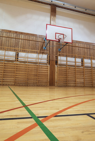 ballgame: View from center court in old gymhall Stock Photo