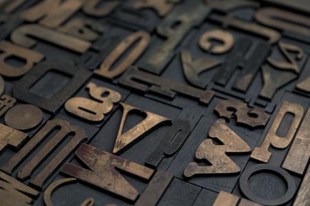 Sammlung von verschiedenen Holztyp Buchstaben für den Druck