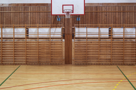 center court: View from center court in old gymhall Stock Photo