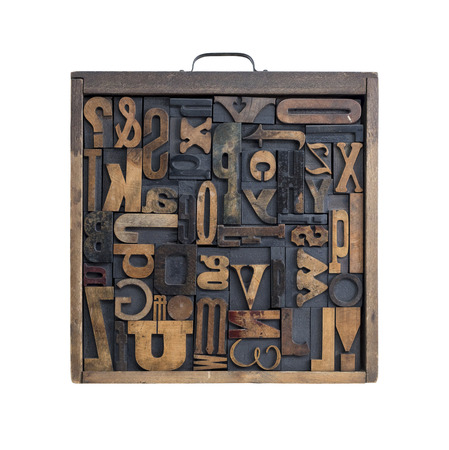 typeset: Collection of various wood type letters for printing