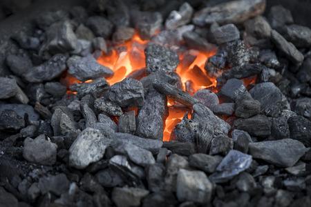 forgery: Blacksmiths coals burning for iron work