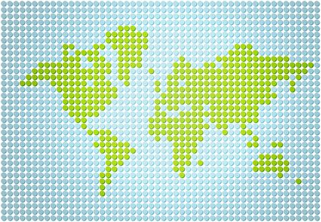 Stylish world map made out of dots 写真素材 - 121054158