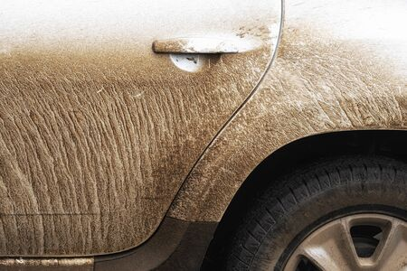Extremely dirty car after off road driving 4x4