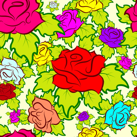 seamless pattern consisting of flowers, vector Illustration