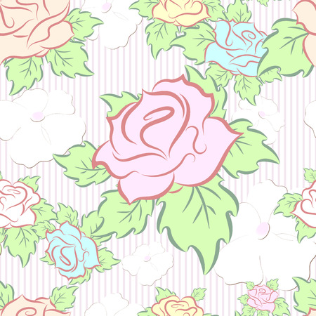 seamless pattern consisting of flowers Illustration