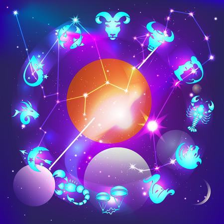 Horoscope circle Ilustração