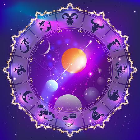 Horoscope circle Illustration