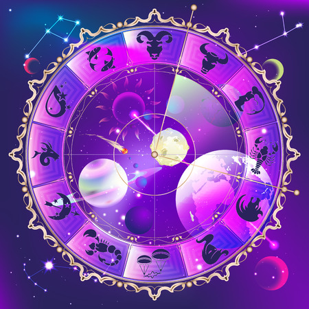 prediction: Horoscope circle Illustration