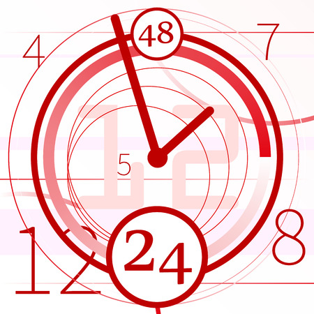 abstract background with clock Illustration