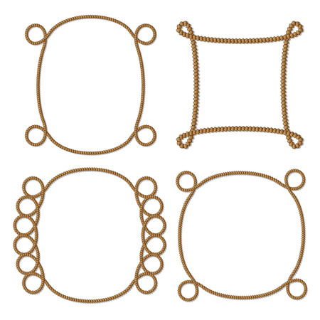 rope frame, vector.