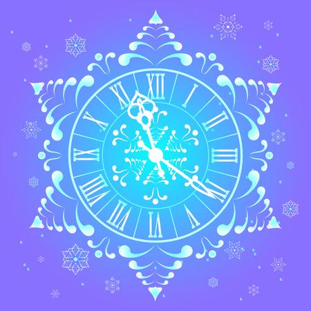 Christmas Athos clock and snowflakes.