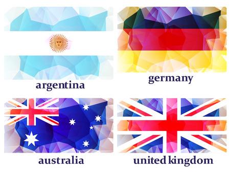 banderas del mundo: banderas del mundo, ilustración vectorial Vectores
