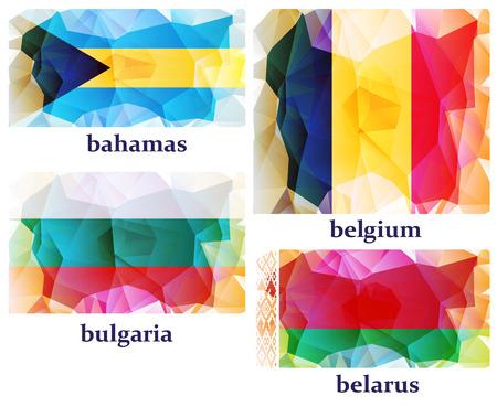 flags of the world, vector illustration Illustration