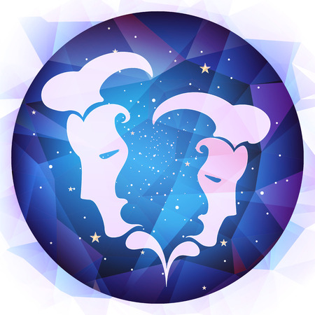 forecasts: zodiac signs illustration Illustration