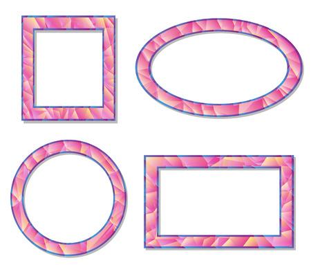 set picture frame design elements vector illustration Vector