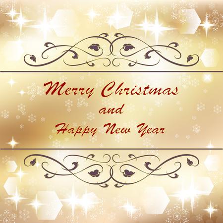 gold christmas background: gold Christmas background, vector illustration