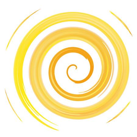 spiral: yellow watercolor spiral, vector illustration Illustration