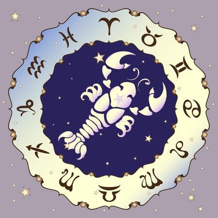 cancer zodiac: Cancer zodiac sign, vector illustration