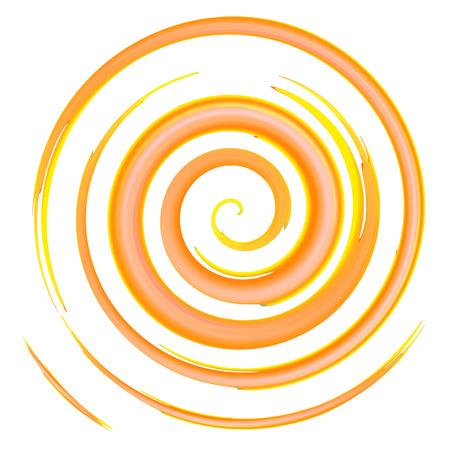 orange watercolor spiral, elements for design, vector illustration