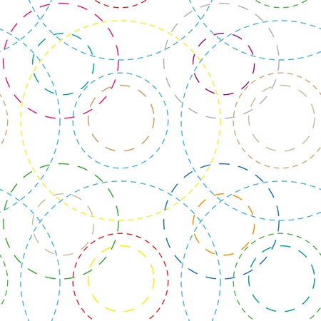 seamless background with colored rings, vector illustration