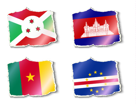 color selection: flags of the world, illustration