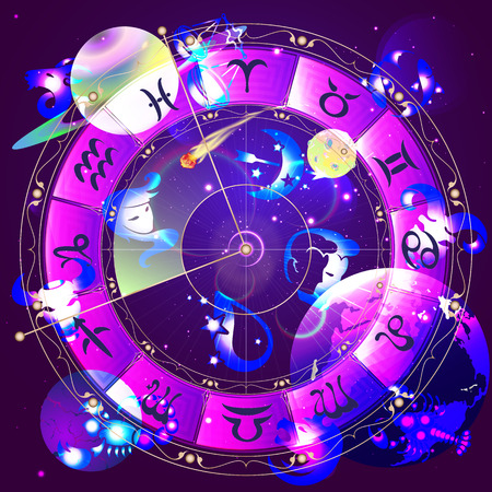 The signs of the horoscope    イラスト・ベクター素材