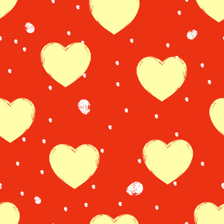 Seamless background consisting of hearts for Valentines day, vector illustration