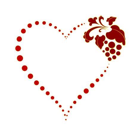 heart of dots on Valentine Ilustração