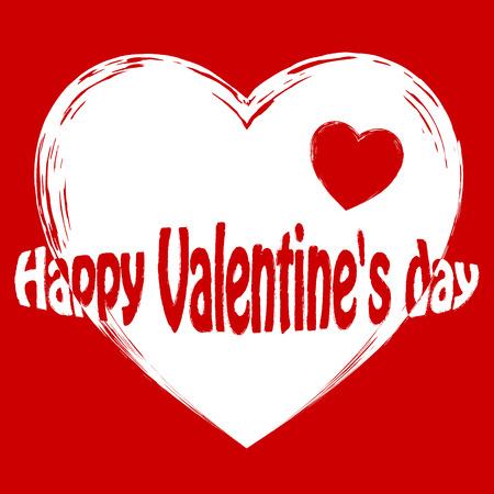 thrive: watercolor heart, Valentine, vector illustration Illustration