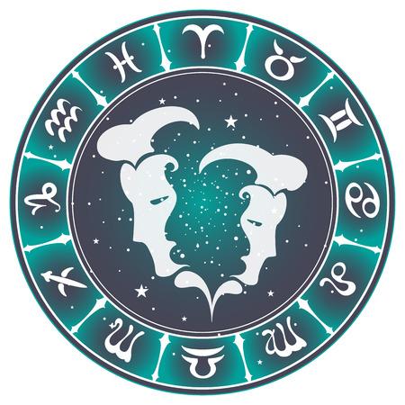 Gemini zodiac sign , vector illustration