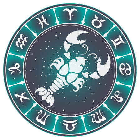 cancer zodiac: Cancer zodiac sign , vector illustration