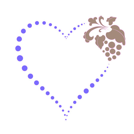 heart of dots on Valentines day, elements for design, vector illustration