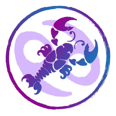 zodiac sign Cancer , watercolor, vector illustration