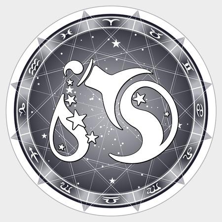 abstract aquarius: zodiac sign Aquarius