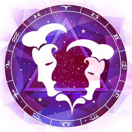 stardom: zodiac sign Gemini Illustration
