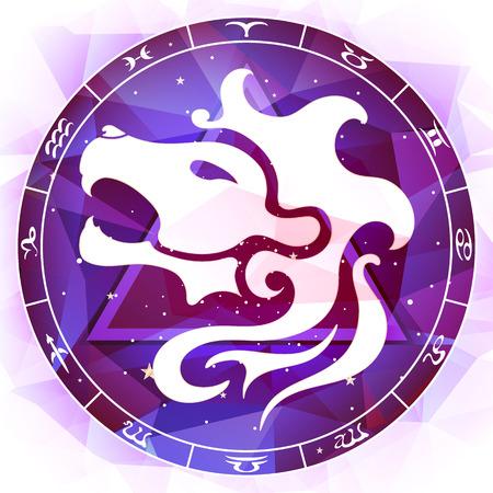 stardom: Leo zodiac sign Illustration