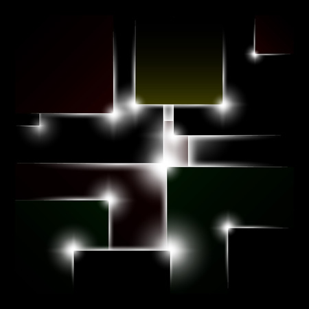 abstract background of black squares, vector illustration Illustration