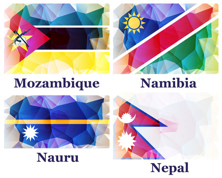 pennon: flags of the world, vector illustration Illustration