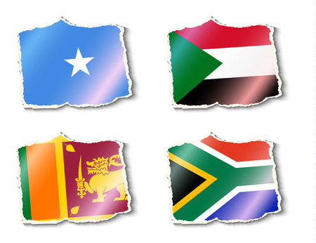 color selection: flags of the world, vector illustration Illustration