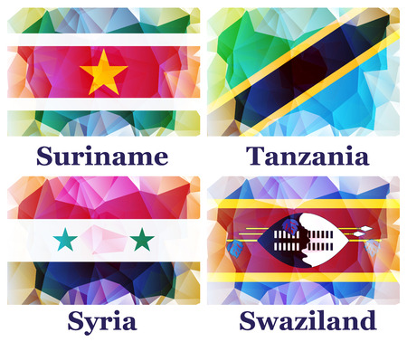 world flags: flags of the world, vector illustration Illustration