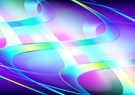 fluted: abstract wavy background, vector illustration Illustration