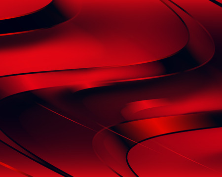 fluted: red abstract wavy background, vector illustration